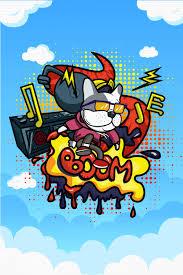 dj background vector cartoon