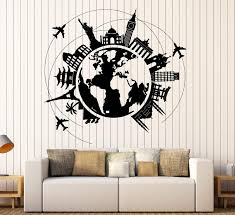 Wall Vinyl Decal Atlas World Map Travel From Wallstickers4you