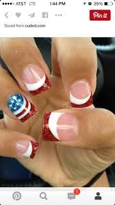 Pin by Audra Roberts on Nails | Patriotic nails, French manicure nails,  Nail designs