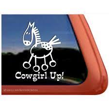 Cowgirl Up High Quality Vinyl Appaloosa Stick Horse Window Decal Walmart Com Walmart Com