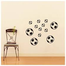 Decals Boys Football Sticker Wall Art Childrens Bedroom 12 Balls Vinyl