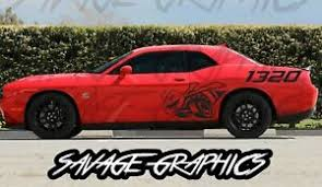 Large Dodge Challenger 1320 Quarter Panel Vinyl Graphic Decals R T Scatpack Ebay