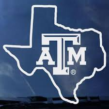 Texas A M Car Decal 12th Man Shop The Official Store Of The Athletic Department