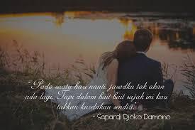 quote cinta dari sapardi djoko damono yang bikin kangen pacar