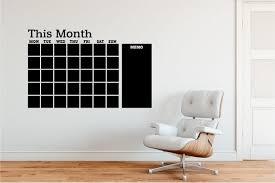 This Month Calendar Quality Chalkboard Wall Decal Etsy
