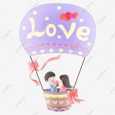 hot air balloon couple valentines day