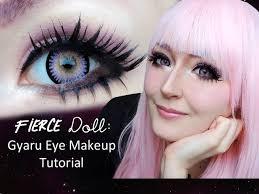 eye enlarging gyaru makeup tutorial