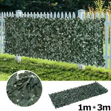 3m Artificial Ivy Leaf Hedge Roll Privacy Fence Screen Green Hedging Wall Cover 714367577982 Ebay