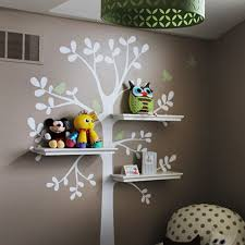 Shelving Tree Decal With Birds