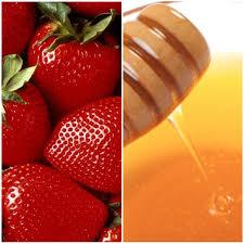 diy strawberry honey acne mask