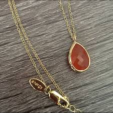 teardrop meaning pendent necklace red
