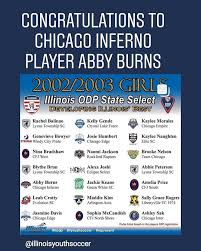 Chicago Inferno - Crystal Lake - Congratulations Abby Burns! All of us  @chicagoinfernocl are proud of you! #Infernoproud #ilodp #represent    Facebook