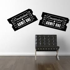 Items Similar To Vinyl Wall Decal Movie Ticket Theatre Art On Etsy Vinyl Wall Decals Broadway Themed Room Wall Decals