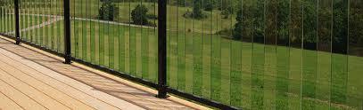 pure view glass barade railing