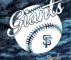 Sf San Francisco Giants Window Sticker Decal Any Size Any Color
