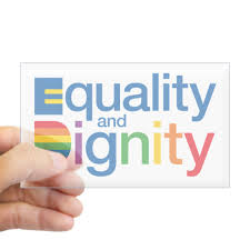 Cafepress Equality And Dignity Sticker Rectangle Bumper Sticker Car Decal Walmart Com Walmart Com