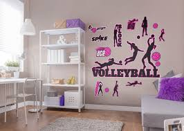 Fathead Volleyball Wall Decal Collection Large Removable Etsy