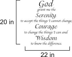 God Grant Me The Serinty Wall Vinyl Decal Home Garden Decor Decals Stickers Vinyl Art