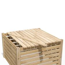 Cedar Wood Composter Lid Rccomplid Greenes Fence Greenes Fence Company