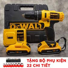 TẶNG BỘ PHỤ KIỆN 22 CHI TIẾT] Máy khoan pin cầm tay DEWALT 24v có khoan búa  - máy khoan 3 chức năng - máy khoang tường - máy bắt vít -