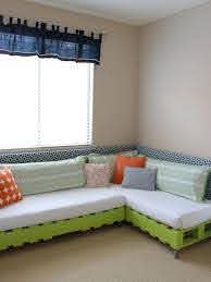 Kids Room With Green Pallet Sectional Hgtv