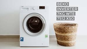 Trên tay máy giặt Beko Inverter 7kg WTE 7512 XS0 - YouTube