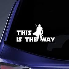 Amazon Com Stick Emall This Is The Way Mando Silhouette Car Decal Automotive