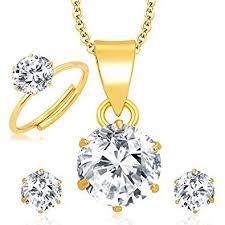 jewellery combo of gold plated