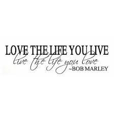 Bob Marley One Love Vinyl Art Mural Wall Sticker Home Decal Decor Room Musi O2k6