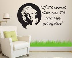 Marilyn Monroe Wall Decal Sticker Wallart Quote Home Etsy