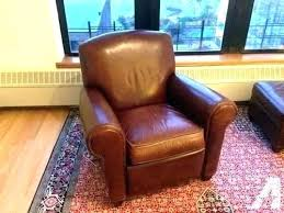 leather recliner club chair crate