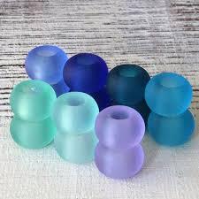 large hole seaglass beads sea glass