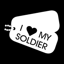 Amazon Com More Shiz I Love My Soldier Dogtags Vinyl Decal Sticker Car Truck Van Suv Window Wall Cup Laptop One 5 5 Inch White Decal Mks0687 Automotive