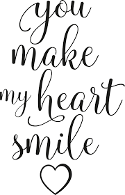 You Make My Heart Smile Text Wall Sticker Tenstickers