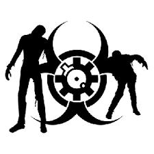 Zombie Biohazard Die Cut Vinyl Decal Pv690 Pirate Vinyl Decals