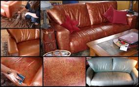 paint leather couch