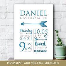 personalised baby boy gifts in nursery