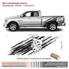 Skull Scratched Side Decals For Dodge Ram Ebay
