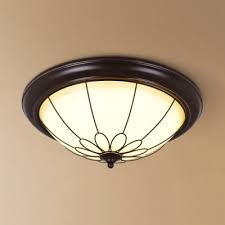 foyer dome flush mount light frosted