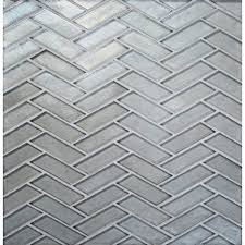 herringbone mosaic wall tile