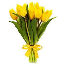 Słoneczne tulipany - przesyłka kwiatowa - E-kwiaty