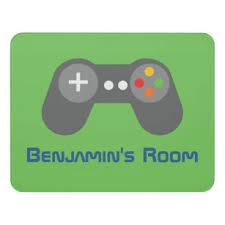 Video Game Controller Kids Door Sign Zazzle Com