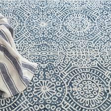 dash and albert temple wool ink rug