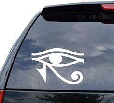 Amazon Com Egyptian God Eye Horus Decal Sticker Car Truck Motorcycle Window Ipad Laptop Wall Decor Size 05 Inch 13 Cm Wide Color Gloss Black Home Kitchen