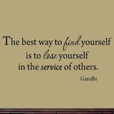 Winston Porter Gries The Best Way To Find Yourself Is To Lose Yourself In The Service Of Others Gandhi Wall Decal Wayfair