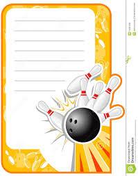 Invitacion En Blanco Del Bowling Ilustracion Del Vector