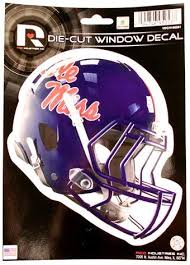 Amazon Com Ole Miss Rebels Football Die Cut 6 Helmet Window Decal Sports Outdoors
