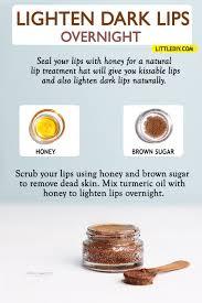lighten dark lips overnight with honey