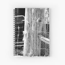 Old Farm Fence Post Hardcover Journal By Marywshields Redbubble