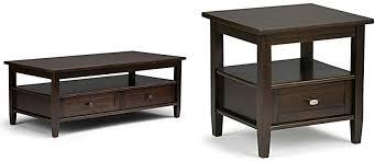 simpli home warm shaker coffee table